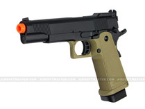Jag Arms GM5 Hi-Capa 5.1 Gas Blowback Pistol 2-Tone Black/Tan