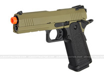 Jag Arms GM4 Hi-Capa 4.3 Gas Blowback Pistol 2-Tone Tan/Black