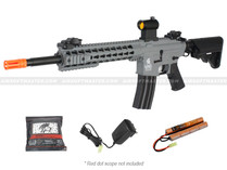 "Lancer Tactical LT-19Y-G2 10"" M4 Keymod Gen 2 Airsoft Gun Gray"