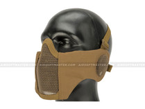 Striker Airsoft Mesh Mask w/ Ear Cover Tan