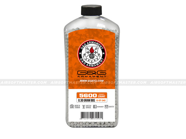 G&G .30g 5600r Bottle Precision BBs Light Gray