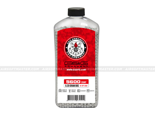G&G .20g Precision BB 5600-Round Bottle White