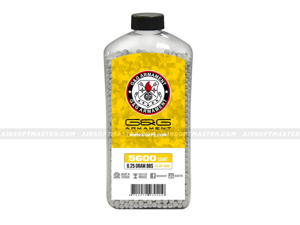G&G .25g Precision BB 5600-Round Bottle White