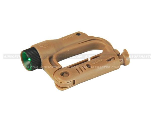 FMA AC-330TG D-Buckle Mini (Green LED) Light (Dark Earth)