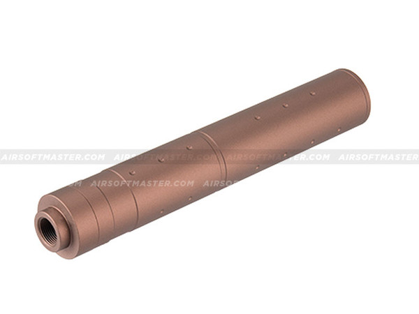 Lancer Tactical 195mm Aluminum Dot Mock Suppressor (Coyote Brown)