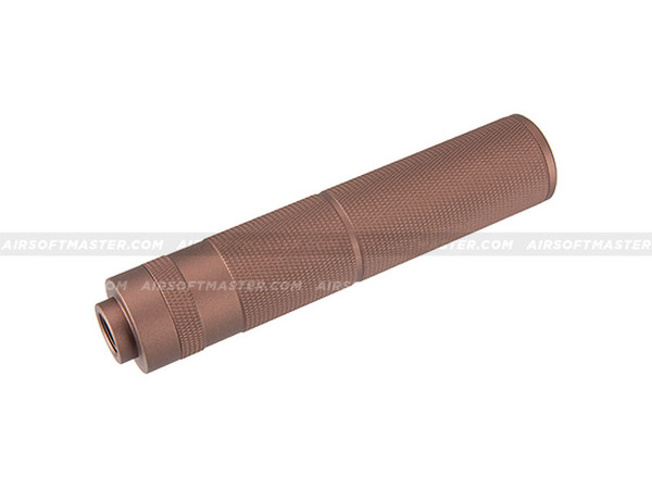 Lancer Tactical 155mm Knurled Mock Suppressor (Coyote Brown)