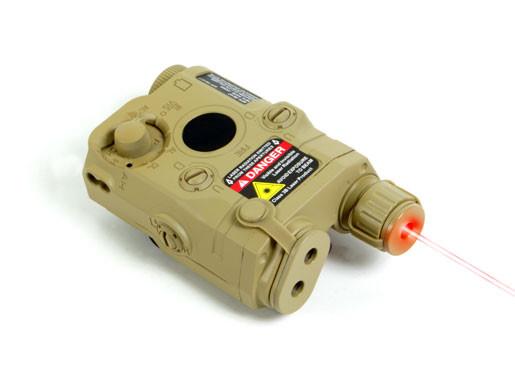 Echo1 Tan PEQ Box w/ Laser & Battery