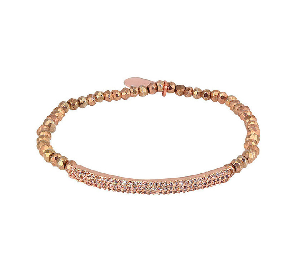 Rose Gold Plated Pyrite/Rose Gold