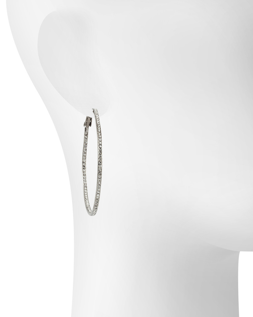 Rhodium Plated Shown on Ear