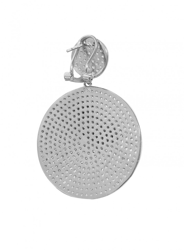 Rhodium Plated Back View