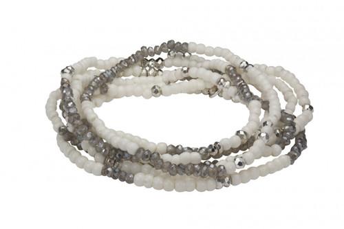 Bone/Diamondite/Silver Plated Pyrite