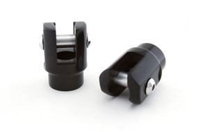 Universal Foot Peg Clevis Black