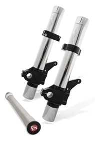 Chrome on Black Leading Axle Fork Legs