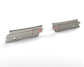 30-256  Crusader Saddlebag Latch Covers Pre 2014 Titanium