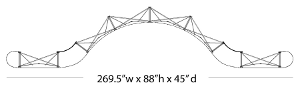 Straight-Curved-Straight 20' Pop Up Display Cross Section