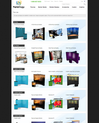 popupdisplay.com quick selection guide