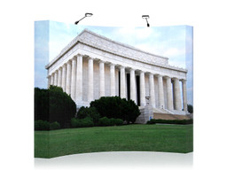 10' Easyfabric - Curved Pop Up Display showing Lincoln Memorial in Washington DC