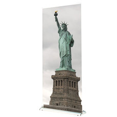 Supreme 850 Banner Stand with custom Statue Of Liberty graphic
