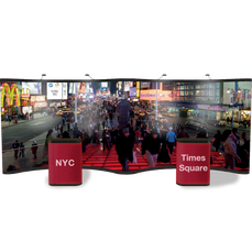 Gullwing 20' Graphic Pop Up Display Showing Times Square in New York City