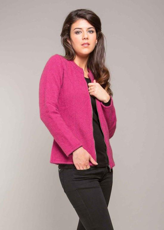 1867a6735c1 Possum Merino Clothing - Women s Koru K0713 Plain Zip Jacket