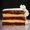 RED VELVET: moist layers of Red Velvet cake filled with creamy French Vanilla custard.RUM VELVET: moist layers of Red Velvet cake filled with non-alcoholic Rum custard.