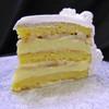 BANANA CREAM: moist layers of Yellow cake filled with creamy French Vanilla custard layered with fresh sliced bananas. (Please note: bananas may turn dark as they naturally ripen.) Add $3.