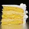 COCONUT CREAM: moist layers of Yellow cake filled with French Vanilla custard mixed with shredded coconut.