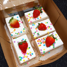 Toppings will vary by flavor, however you can add confetti or sprinkles, too!