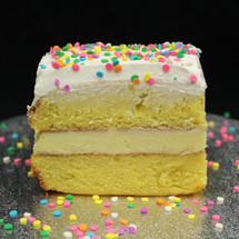 These CUTS are sprinkled with edible, pastel confetti-quins, or any other toppers of your choice.