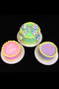 Special edition Easter egg-inspired cakes. Available in these 3 colors.