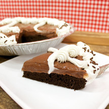 Chocolate Chocolate Rum Cake Pie