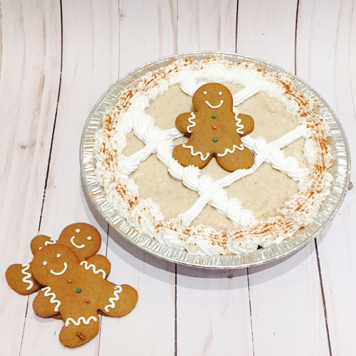 NEW! This year, we've teamed up with Smitholator Cookie Shop to make our Gingerbread Cake Pies extra special by adding a handmade Gingerbread cookie on top. So cute AND delicious!