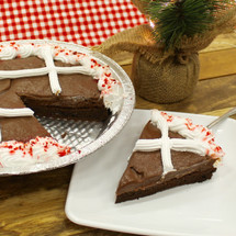 Chocolate Candy Cane Cake Pie