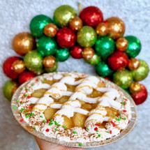 Christmas Caramel Apple Cake Pie