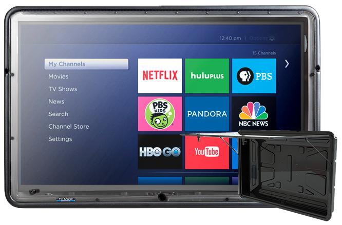 19-29 Inch Weatherproof Outdoor TV Enclosure/cabinet