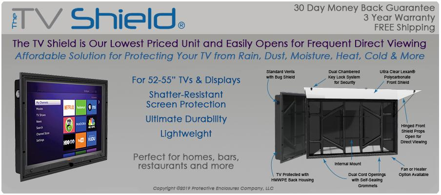 The TV Shield Weatherproof Outdoor TV Enclosure