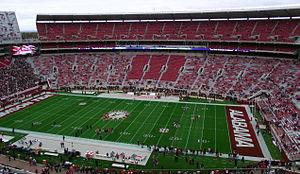 Bryant-Denny stadium at the University of Alabama, houses over 200 The Display Shield weatherproof tv enclosures
