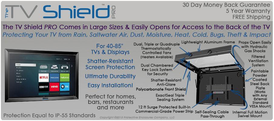 the shield pro outdoor enclosure tv cabinet amazon best buy lcd diy