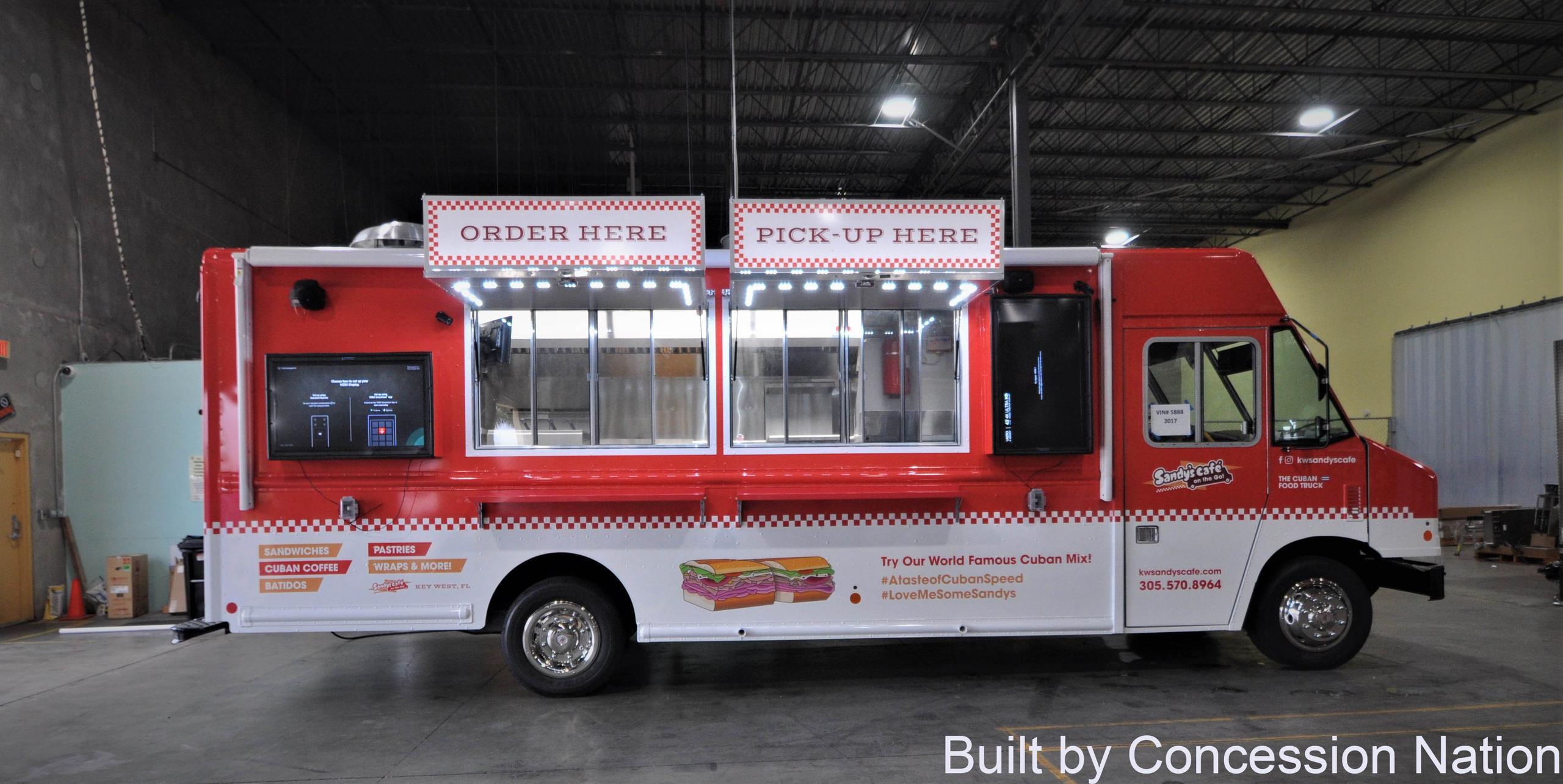 Sandy's Food Truck - Digital Menu Board