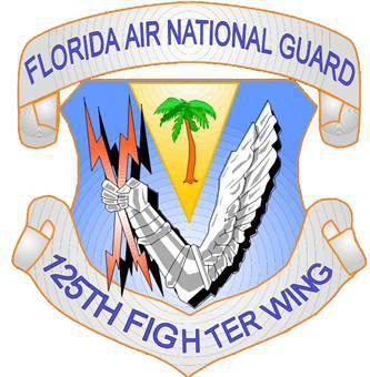 Florida Air National Guard 125th Fighter Wing Logo