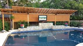 Pretty Outdoor Living Space and TV by Pool - The TV Shield Outdoor TV Enclosure