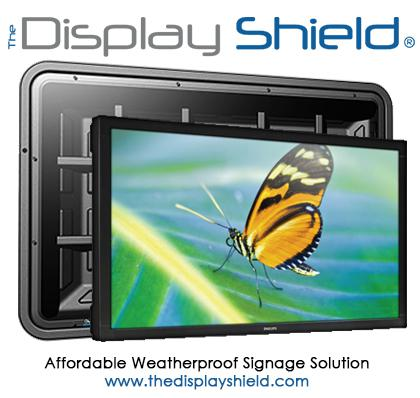 The Display Shield weatherproof digital signage enclosure