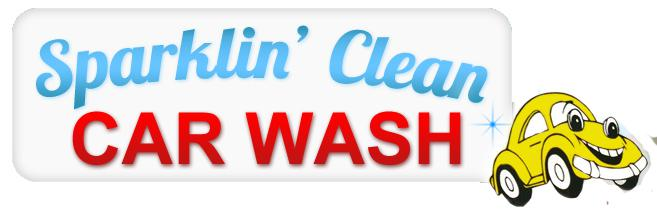 Sparklin Clean Car Wash Logo