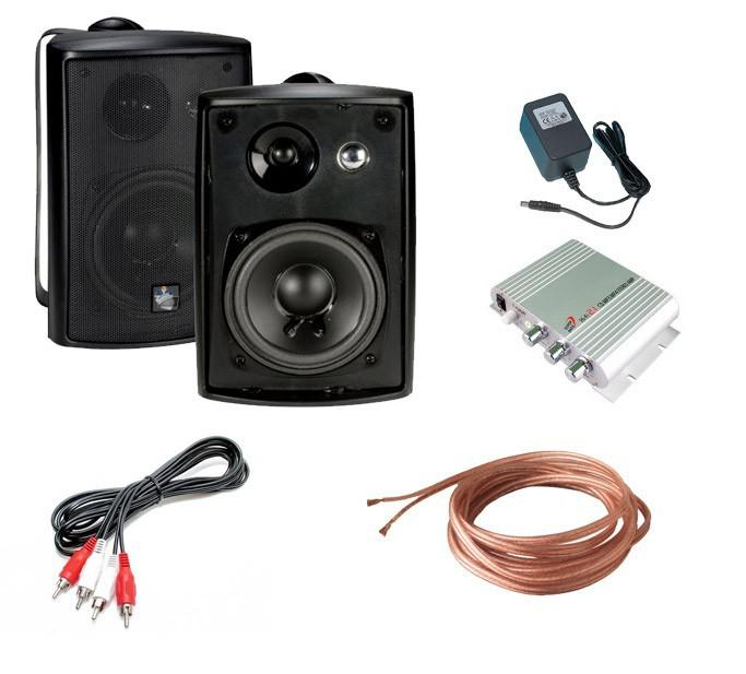 The TV Shield Outdoor Speaker Kit