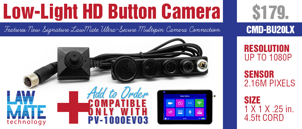 lowlight hd button camera for lawmate dvrs