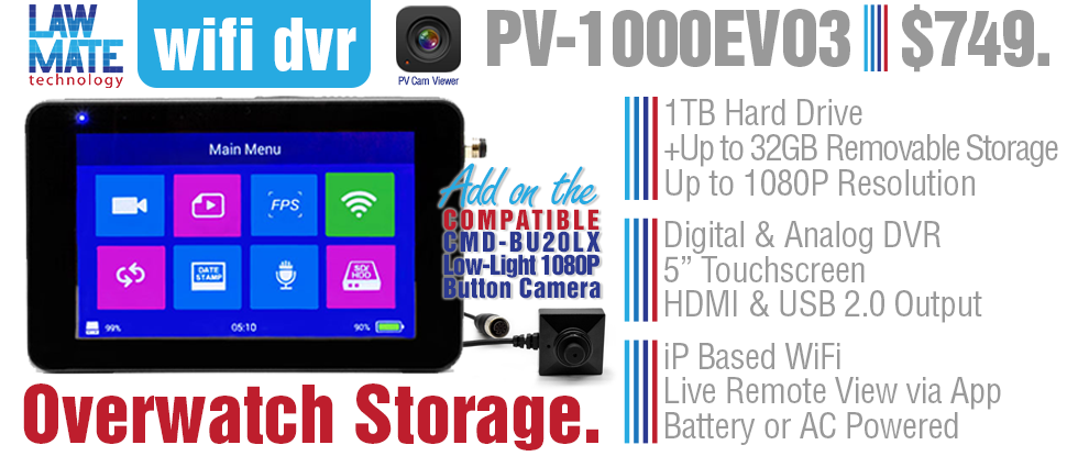 pv-1000evo3 dvr and camera