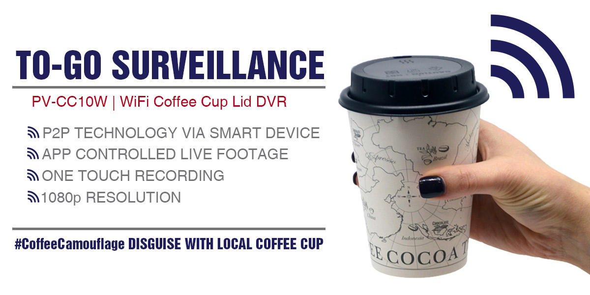 Lawmate Coffee Cup Lid Hidden Camera