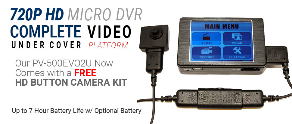 Lawmate PV-500EVO2U with FREE CMD-BU20U Button Camera
