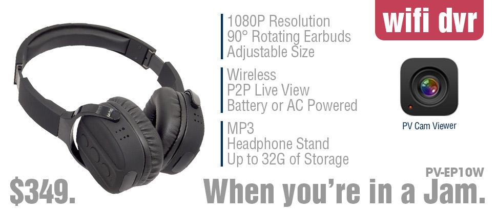 wifi dvr headphone camera