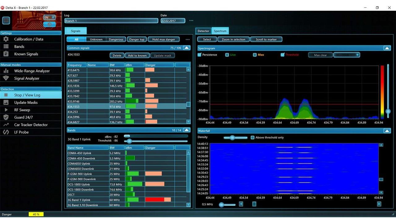 DX100-12 | How do I scan for hidden cameras? With Delta X100-12 spectrum analyzer